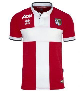 Terza maglia Parma rossa croce bianca 2017-2018