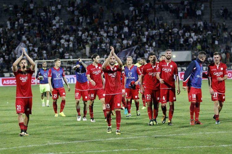Divisa Carpi away rossa 2017-2018