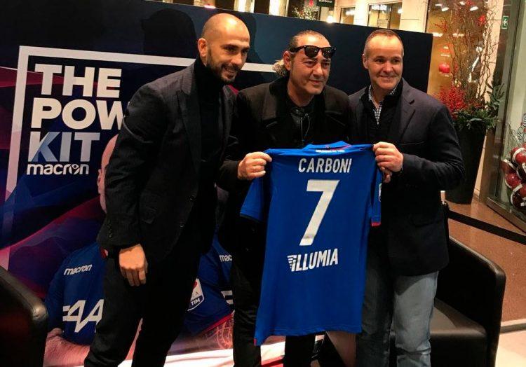 Di Vaio, Carboni e Saputo con la terza maglia del Bologna