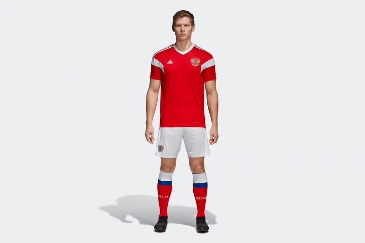 Kit Russia home 2018 World Cup