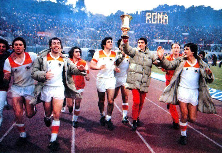 Festa Roma. vittoria Coppa Italia 1980