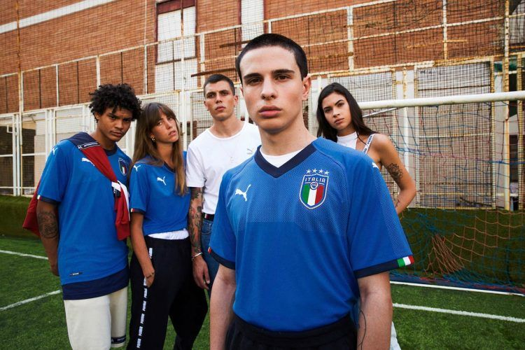 La nuova maglia dell'Italia firmata Puma