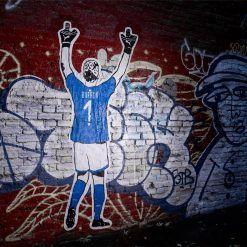 La leggenda Gigi Buffon nel murales azzurro