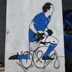 Gigi Buffon, murales in Brasile