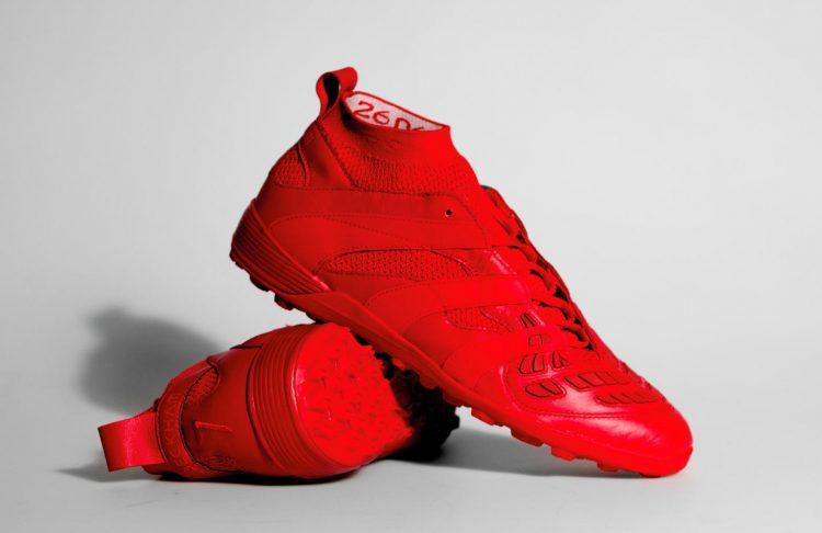 Scarpe adidas Predator Accelerator Beckham Cage calcetto rosse