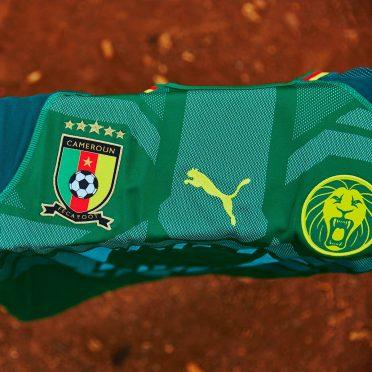 Dettaglio prima maglia Camerun 2018