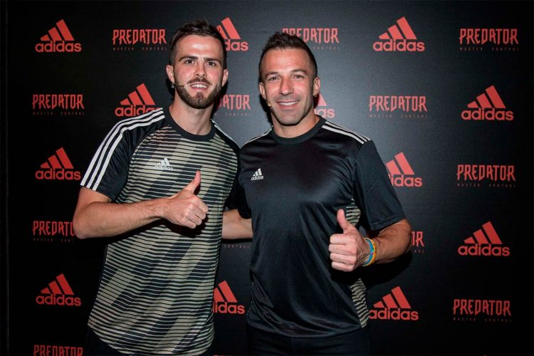 Del Piero e Pjanic all'evento adidas Predator