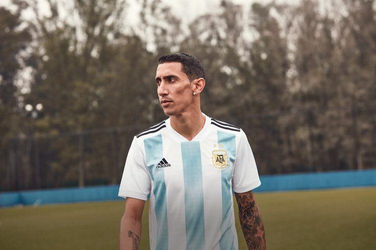 Di Maria con la maglia dell'Argentina per i Mondiali 2018
