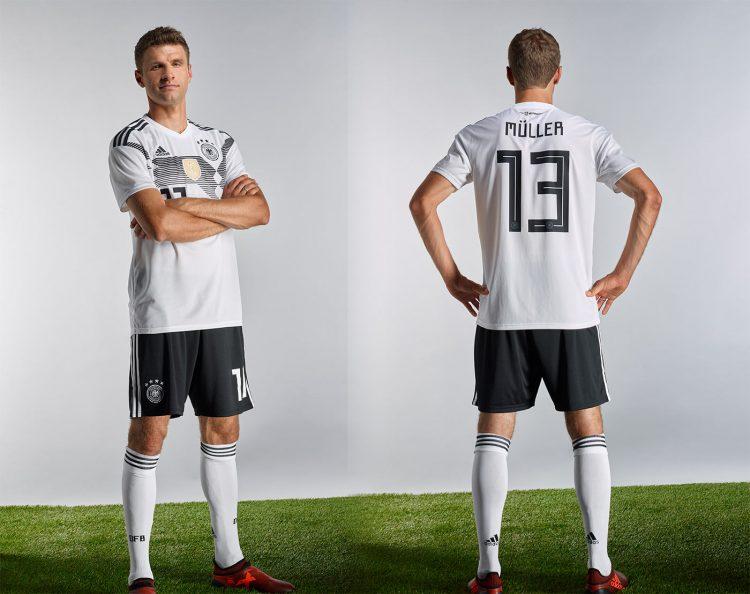La divisa della Germania ai Mondiali 2018 in Russia