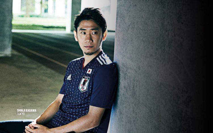 Kagawa con la maglia del Giappone per i Mondiali 2018