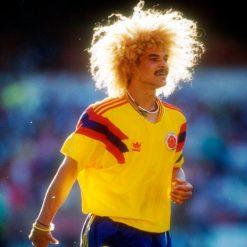 Valderrama ai Mondiali 1990 con la Colombia