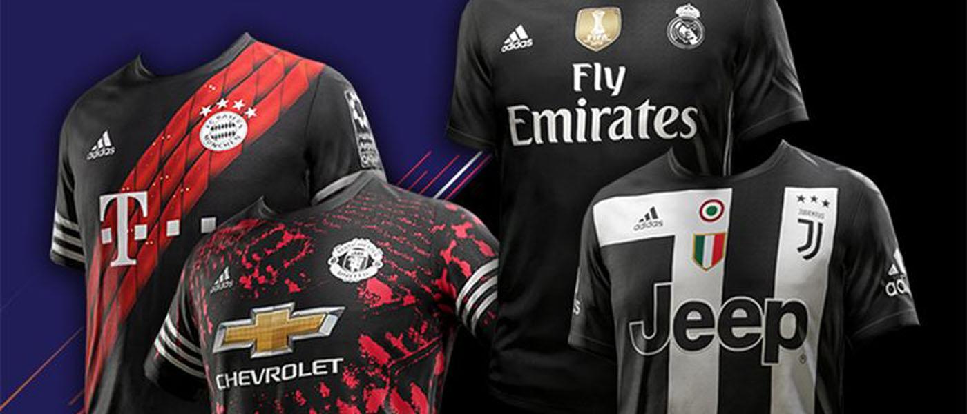 FIFA 18 Digital Fourth Kit 2017-2018, Bayern Monaco, Juventus, Manchester United, Real Madrid