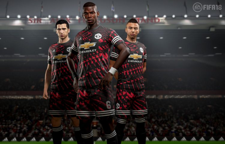 FIFA 18 Digital Fourth Kit 2017-2018, Manchester United