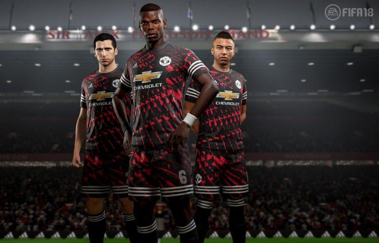 FIFA 18 Digital Fourth Kit 2017-2018, Manchester United