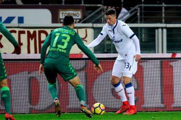La divisa verde del Torino contro l'Atalanta