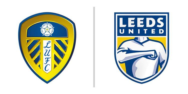 Leeds United, raffronto stemmi 1998 vs 2018