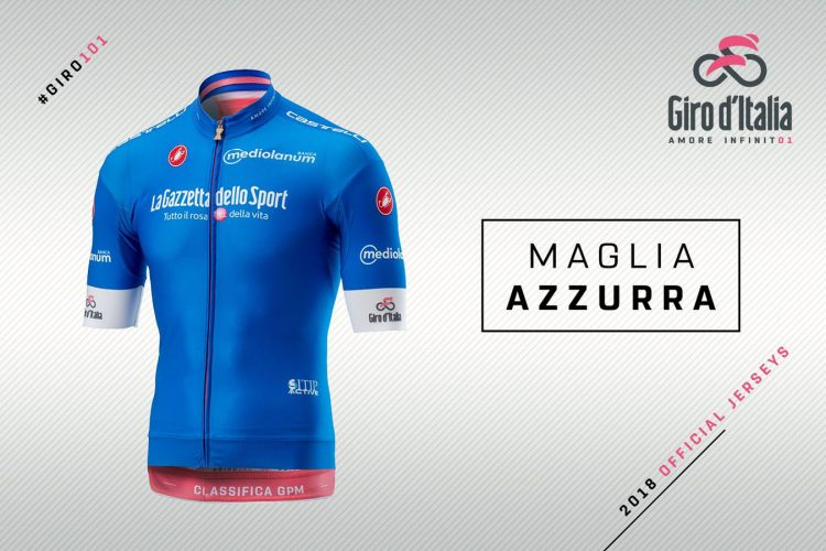 Maglia azzurra Giro d'Italia 2018, classifica scalatori