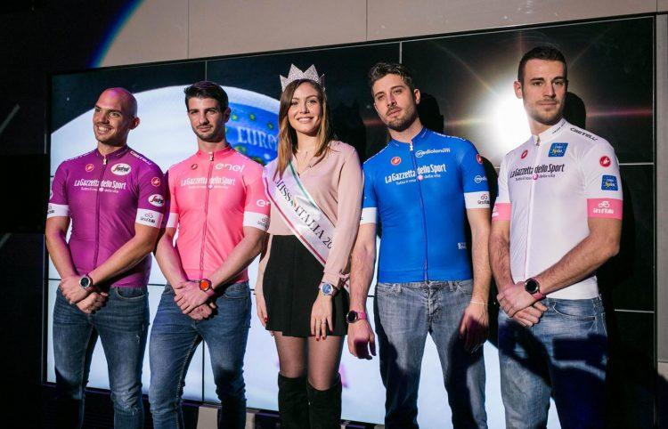 Giro d'Italia 2018, presentazione maglie con Miss Italia 2017, Alice Rachele Arlanch