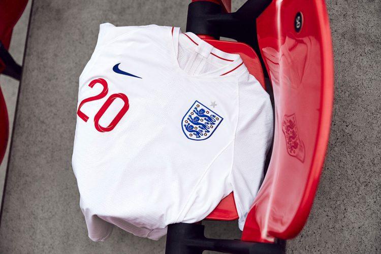 Maglia Inghilterra Mondiali 2018 home