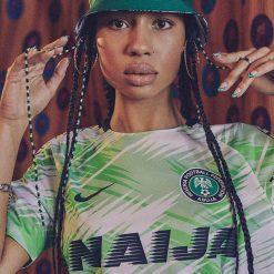 Maglia pre-gara Nigeria con scritta Naija