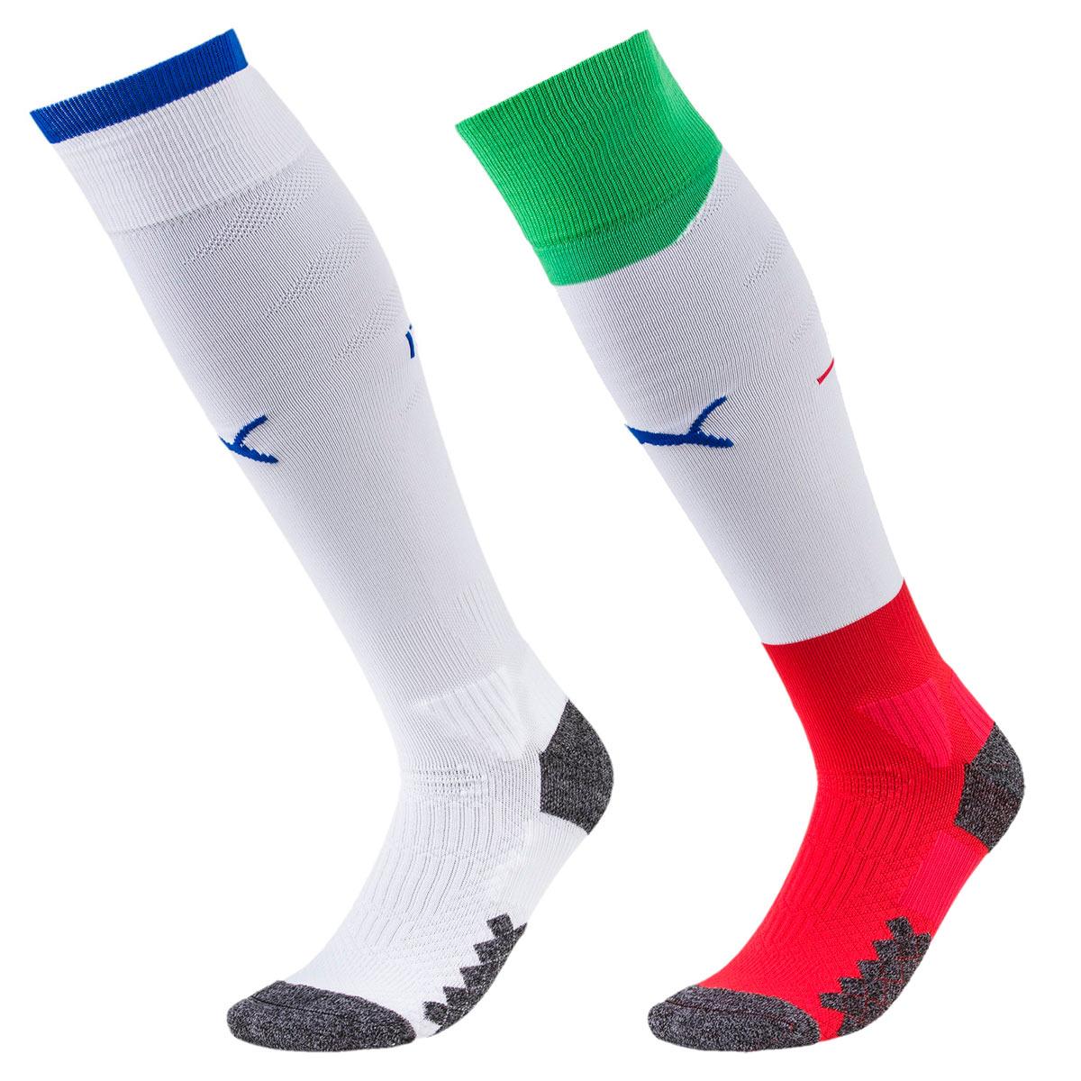 Seconda maglia Italia 2018-2020 Puma, bianca e azzurra con tricolore