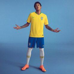 Neymar, kit Brasile home 2018