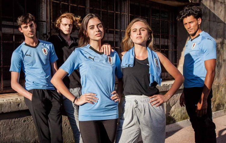 La nuova maglia dell'Uruguay per i Mondiali 2018