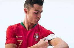 Cristiano Ronaldo con la maglia del Portogallo per i Mondiali 2018
