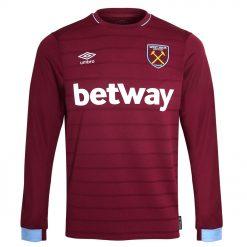 Prima maglia West Ham 2018-2019 maniche lunghe