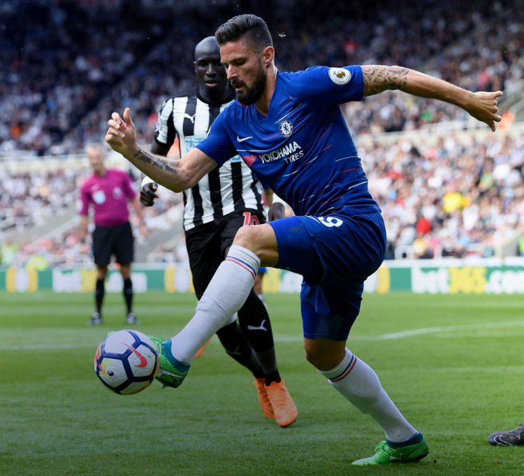 Giroud in Chelsea-Newcastle