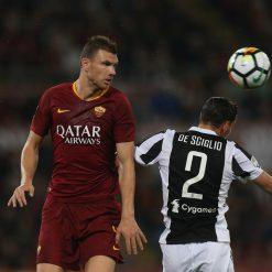 Dzeko in Roma-Juventus