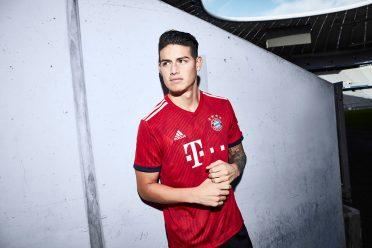 James indossa la nuova maglia del Bayern 2018-19