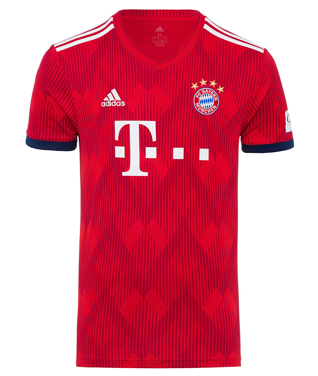 Maglia Bayern Monaco 2018-2019 con la grafica a diamanti di adidas