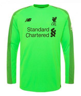 Seconda maglia portiere Liverpool verde 2018-2019