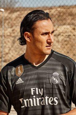 Keylor Navas con la maglia da portiere del Real Madrid