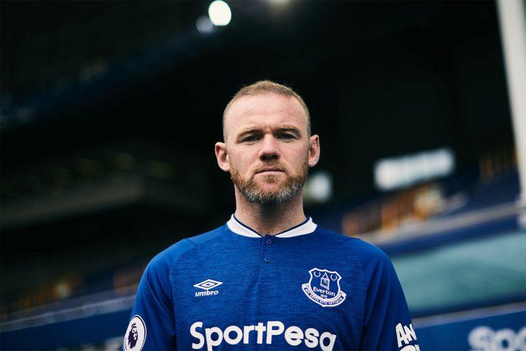 Rooney con la maglia dell'Everton 2018-19