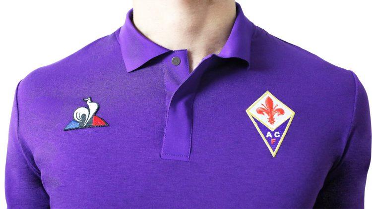 Colletto a polo, maglia Fiorentina 2018-19
