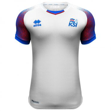Seconda maglia Islanda bianca 2018 Erreà