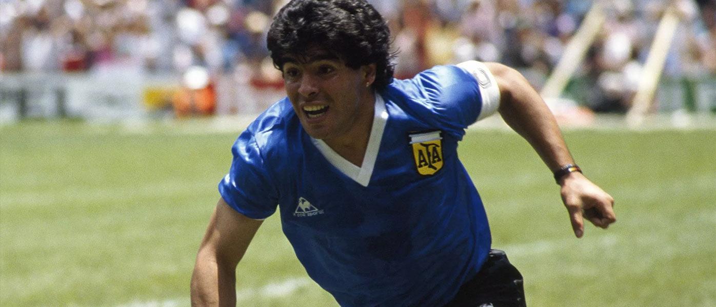 Maradona, storia maglie mondiali