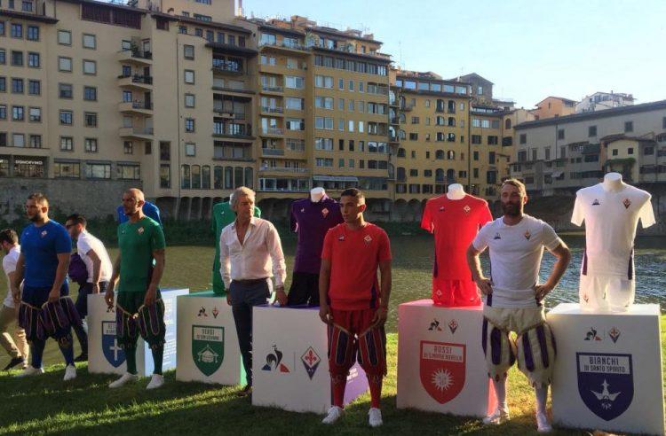 Presentazione maglie Fiorentina 2018-19 a Ponte Vecchio
