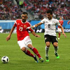 Russia-Egitto, calzettoni rossi away