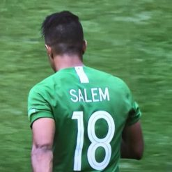 Numero 8 al contrario sulla maglia di Salem dell'Arabia saudita