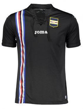 Terza maglia Sampdoria nera 2018-19