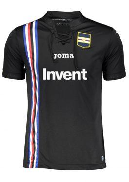 Terza maglia Sampdoria nera laccetti