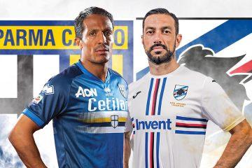Parma-Sampdoria maglie invertite