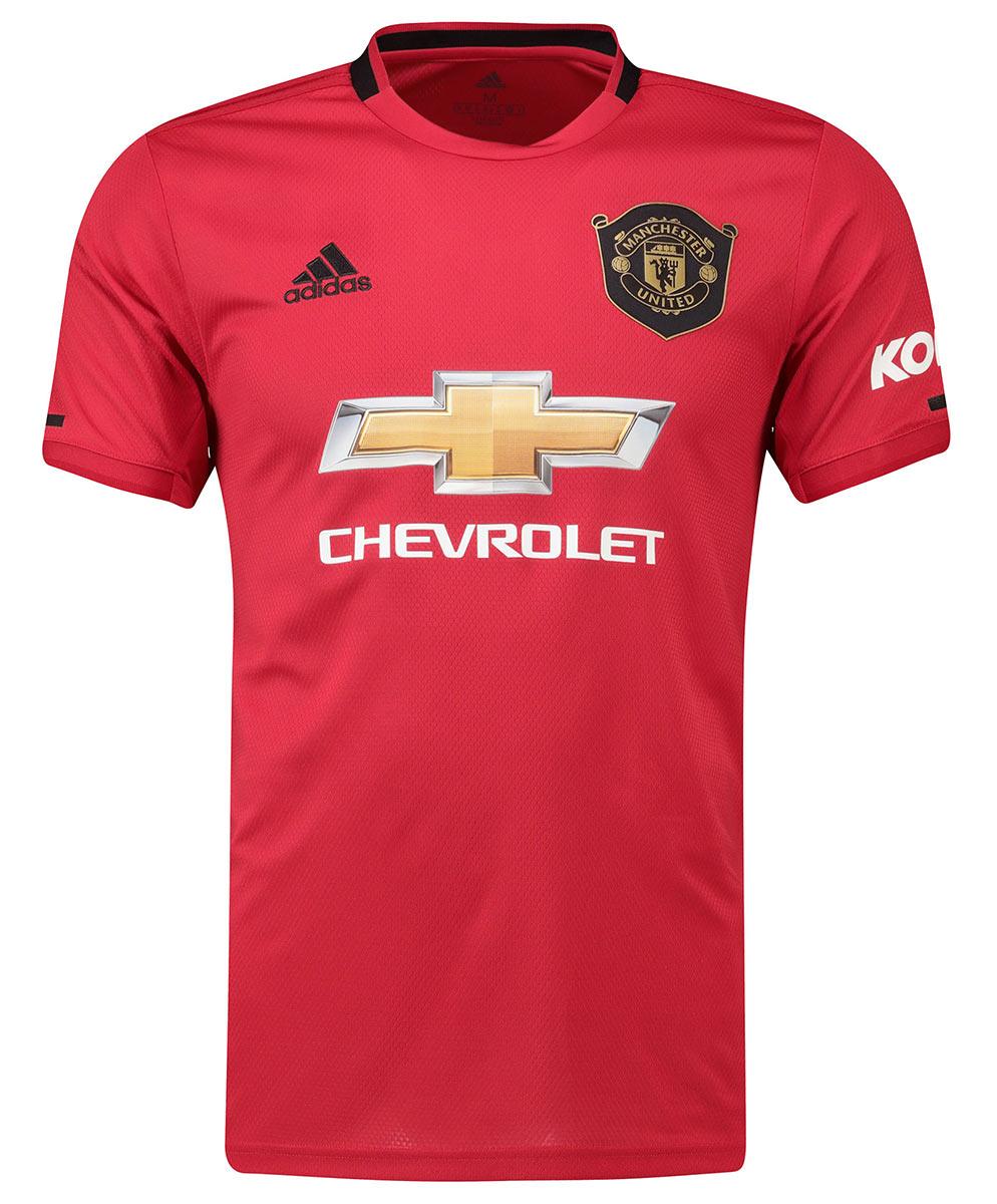 Maglia Manchester United 2019-2020 con il ricordo del Treble