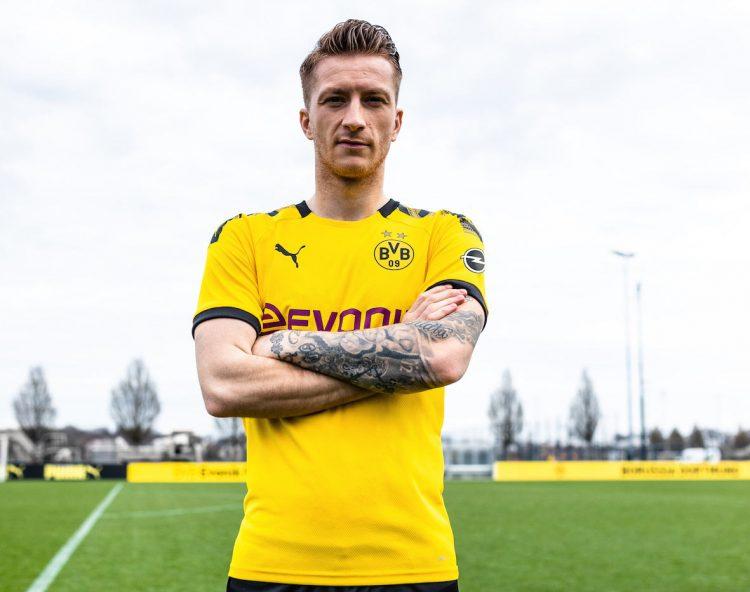 Reus con la nuova maglia del BVB 2019-20