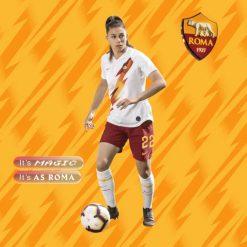 Bonfantini con la nuova maglia away della Roma