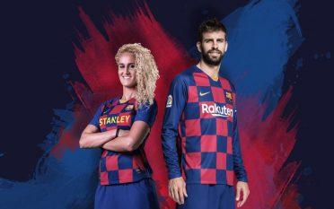 Pique, nuova divisa Barcellona 2019-2020