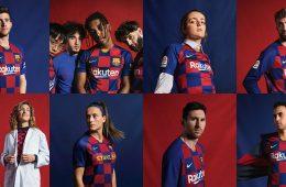 La nuova maglia del Barcellona 2019-2020 a scacchi